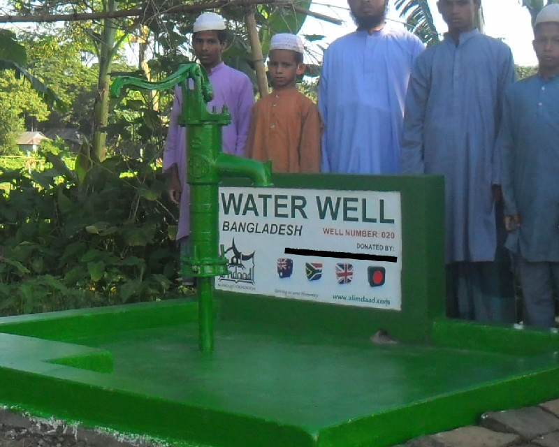 Al-Imdaad Foundation provides water to thousands of thirsty people by establishing water wells across Bangladesh