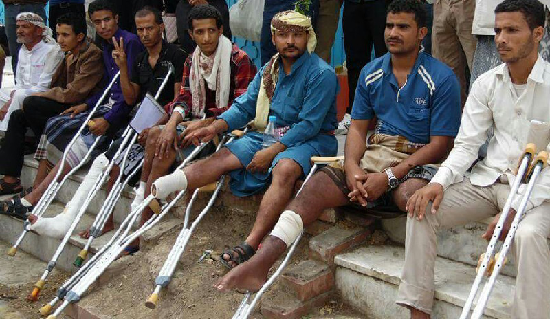Many of the injured have been left disabled or completely lost limbs
