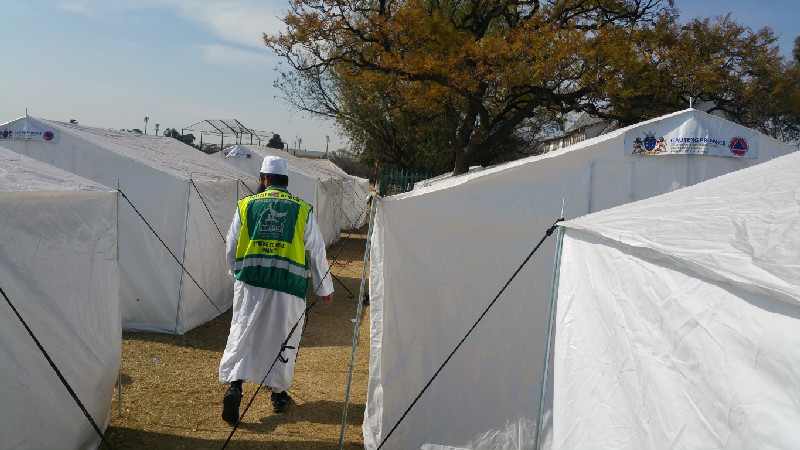 Al-Imdaad Foundation's office in Gauteng regularly responds to informal settlement fires that often leave large numbers displaced and destitute