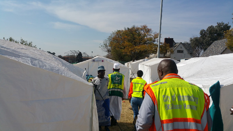 Teams ensure that their response efforts are coordinated with local disaster management structures