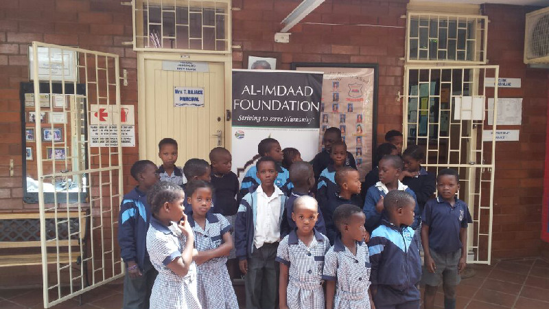 The items were handed over to needy learners at the school as part of the Al-Imdaad Foundation's Back-2-School campaign