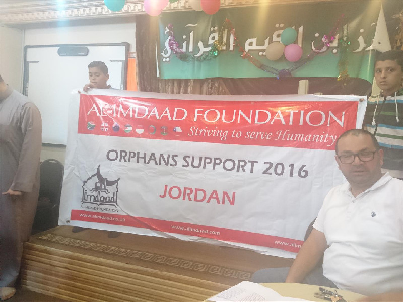 Al-Imdaad Foundation's Jordan office also provides regular support to Palestinian refugees at various camps around Jordan