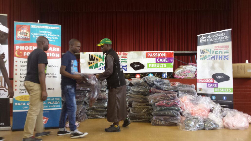 Distributions also took place in KZN in partnership with the Phoenix Care Foundation