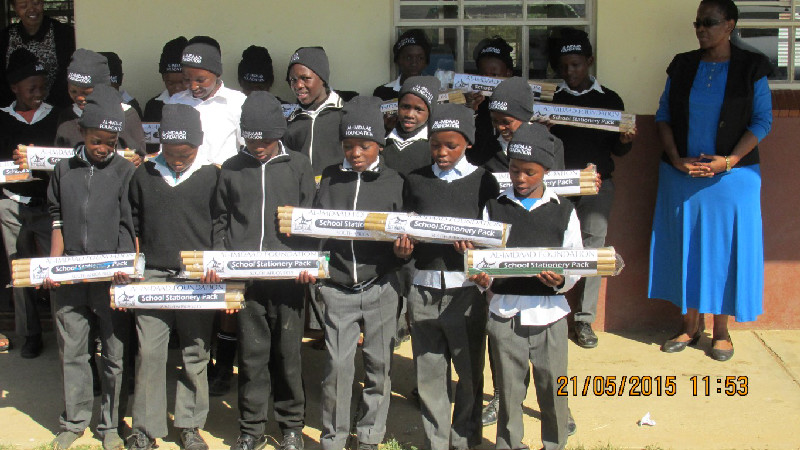 OWW 2015 Warm Hat & Stationery Pack Distribution at the Remington Primary School