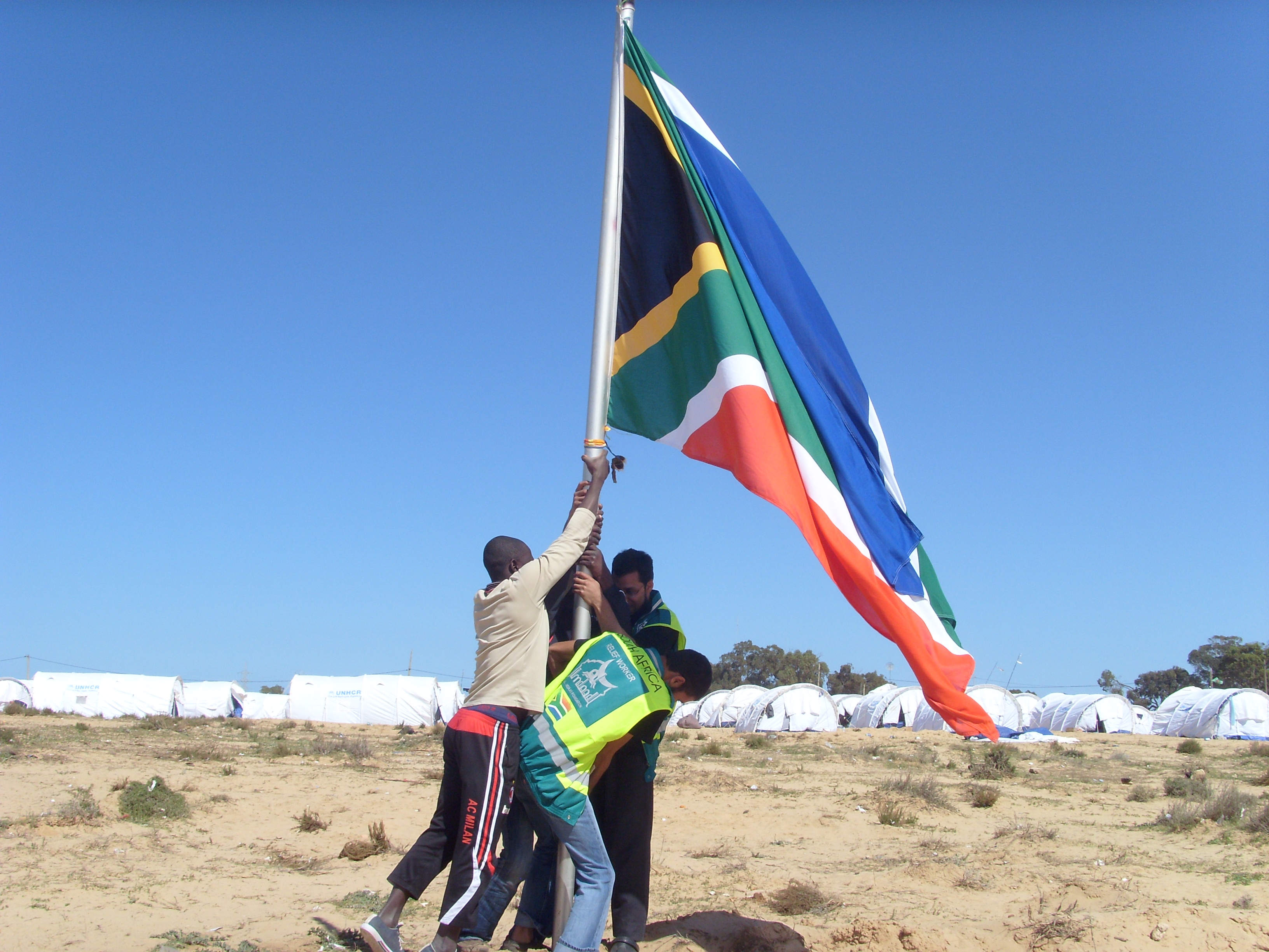 Establishing a strong South African presence at the Choucha Refugee Camp in Tunisia