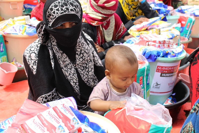 Hygiene packs including cleaning materials and baby sanitation items were also distributed to communities