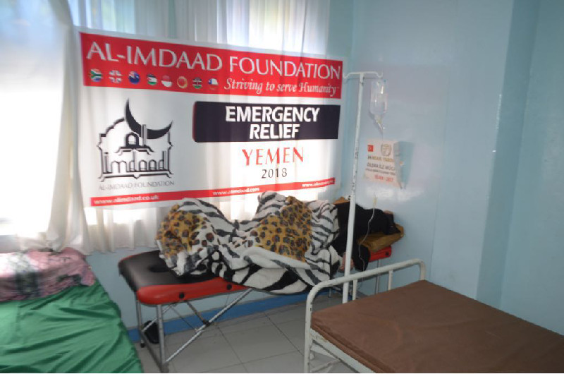 Al-Imdaad Foundation has also undertaken sponsorship of a clinic treating Cholera patients