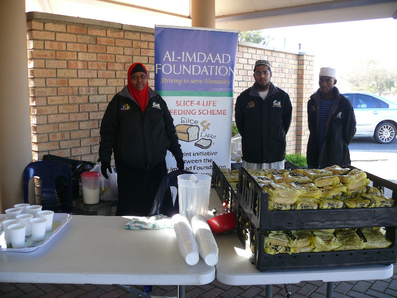 AIF launched its Slice 4 Life feeding scheme at the Estcourt Provincial Hospital's ARV Clinic in July.